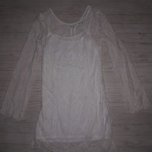 ECOTE  FOR URBAN OUTFITTERS WHITE LACE DRESS